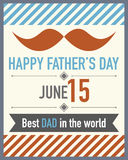 Fathers Day Mustache. Abstract Design Stock Photos