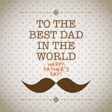 Fathers day mustache card Royalty Free Stock Photo