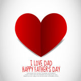 Father's Day Paper Heart Royalty Free Stock Photos