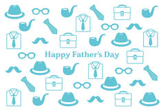 Father's Day postcard. Postcard of Father's Day Illustrations Royalty Free Stock Photography
