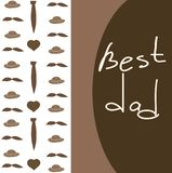 Father`s Day postcard with a background of hats and ties and a template. vector doodle illustration royalty free illustration