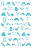 Father`s Day postcard Stock Photo