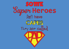 Father's day poster-Super Heroes Royalty Free Stock Images