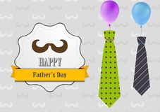 Father's Day retro vintage background with ties Royalty Free Stock Photo