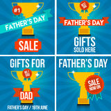 Father's Day Sale Banners and Signs Royalty Free Stock Photo