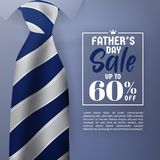 Father`s Day Sale Promotion Banner Royalty Free Stock Photo