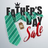 Father`s Day Sale Promotion Banner Background Stock Photography