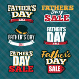 Father's Day Sale Typography Collection. Royalty Free Stock Image