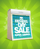 Father`s day sale vector poster with tear-off calendar Stock Photo