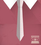 Fathers day shirt and tie. Abstract design Stock Photography