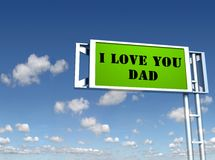 Father's day sign board Stock Photography