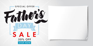 Father`s Day special offer SALE banner light Royalty Free Stock Photography