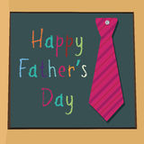 Father's day. Special father's day text with a tie on abstract board Stock Images