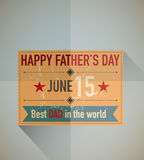 Fathers day ticket Royalty Free Stock Photography