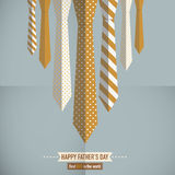 Fathers Day. Tie Concept Abstract Design Stock Photo