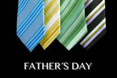 Father's day tie motive greeting card with message Stock Images