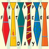 Father's Day Ties royalty free illustration