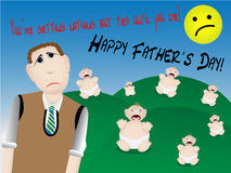 Father's Day with too many babies Royalty Free Stock Photo