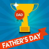Father's Day Window sign Message Royalty Free Stock Photography