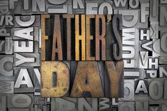 Father's Day. Written in vintage letterpress type Royalty Free Stock Photo