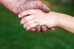 Father` s suport and care Royalty Free Stock Photos