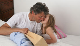 Father's kiss Royalty Free Stock Photos
