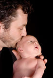 Father's kisses Royalty Free Stock Image