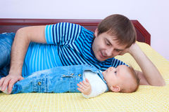 Father's love. Father and dauther at home Stock Photo