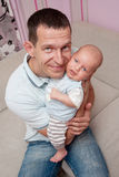 Father's love. Cute baby with father Stock Photo