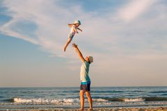Father`s love. Father hugging his daughter. royalty free stock photos