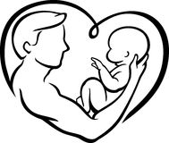 Father's Love Heart Stock Photos