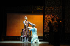 Father's orders against-The prelude of dance drama-Shawan events of the past. Guangdong Shawan Town is the hometown of ballet music, the past focuses on the Royalty Free Stock Photos