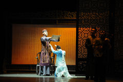 Father's orders against-The prelude of dance drama-Shawan events of the past. Guangdong Shawan Town is the hometown of ballet music, the past focuses on the Royalty Free Stock Images