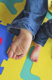 Father's and son's Feet royalty free stock photo