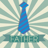 Father's tie. Abstract tie on special green and white background Royalty Free Stock Photo