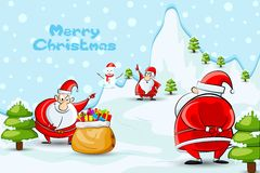 Father Santa with Christmas gifts Stock Image