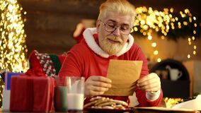Father in santa costume at home. Positive human facial expressions and emotions.