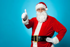 Father Santa gesturing thumbs up Stock Photography
