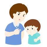 Father scolds his son   illustration Royalty Free Stock Images