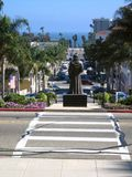 Father Serra in Ventura stock images