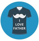 Father shirt, loving father That can be easily edited in any size or modified. stock illustration