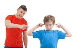 Father shouting at son. Stock Images