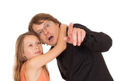 Father showing something to his daughter Royalty Free Stock Photography