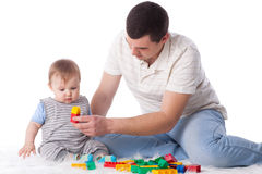 Father with small baby. Stock Images