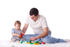 Father with small baby. Royalty Free Stock Image