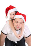 Father and the small daughter Stock Photos