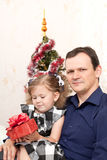 Father with a small daughter Stock Image