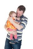 Father with the small daughter Stock Image