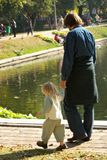 Father and the small daughter Royalty Free Stock Photos
