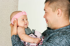 Father and small daughter Royalty Free Stock Images